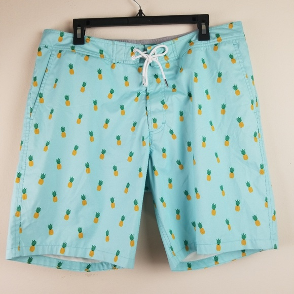 767bcabaf9d49 Bonobos Swim | Blue Pineapple Print Board Shorts | Poshmark